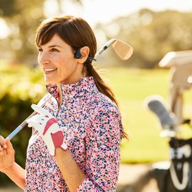 Hoofdtelefoon golfen
