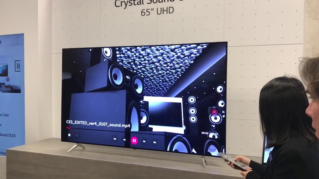 LG sound on display Concept Oled Televisie